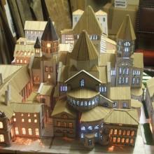 Une maquette de l'abbaye au ministère de la culture