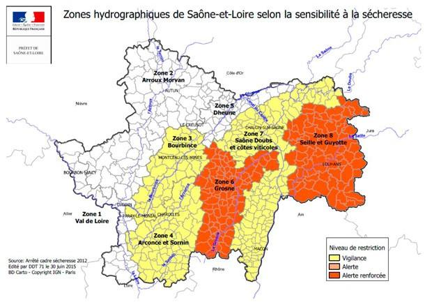 carte-restriction-secheresse-saone-et-loire-prefecture-juillet-2015