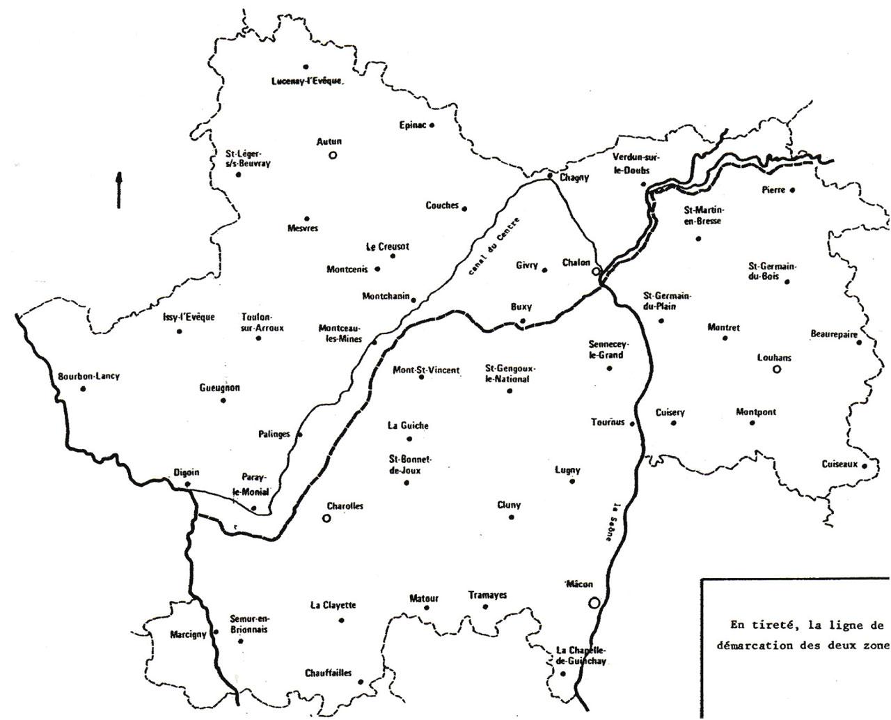 archives71-carte-saone-et-loire-ligne-demarcation