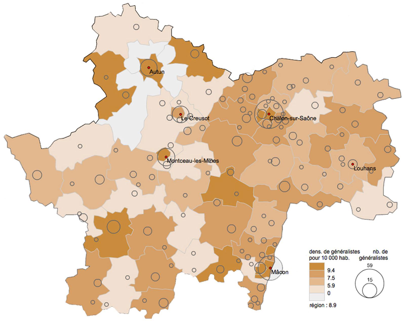 carte-densite-medecins-generalistes-saone-et-loire-2011-urcam